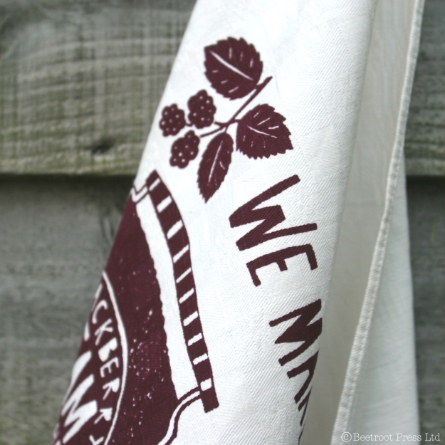 vintage napkin_tea towel_ hand printed by Beetroot Press